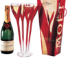 Champagne Moet Chandon Flower 75L.